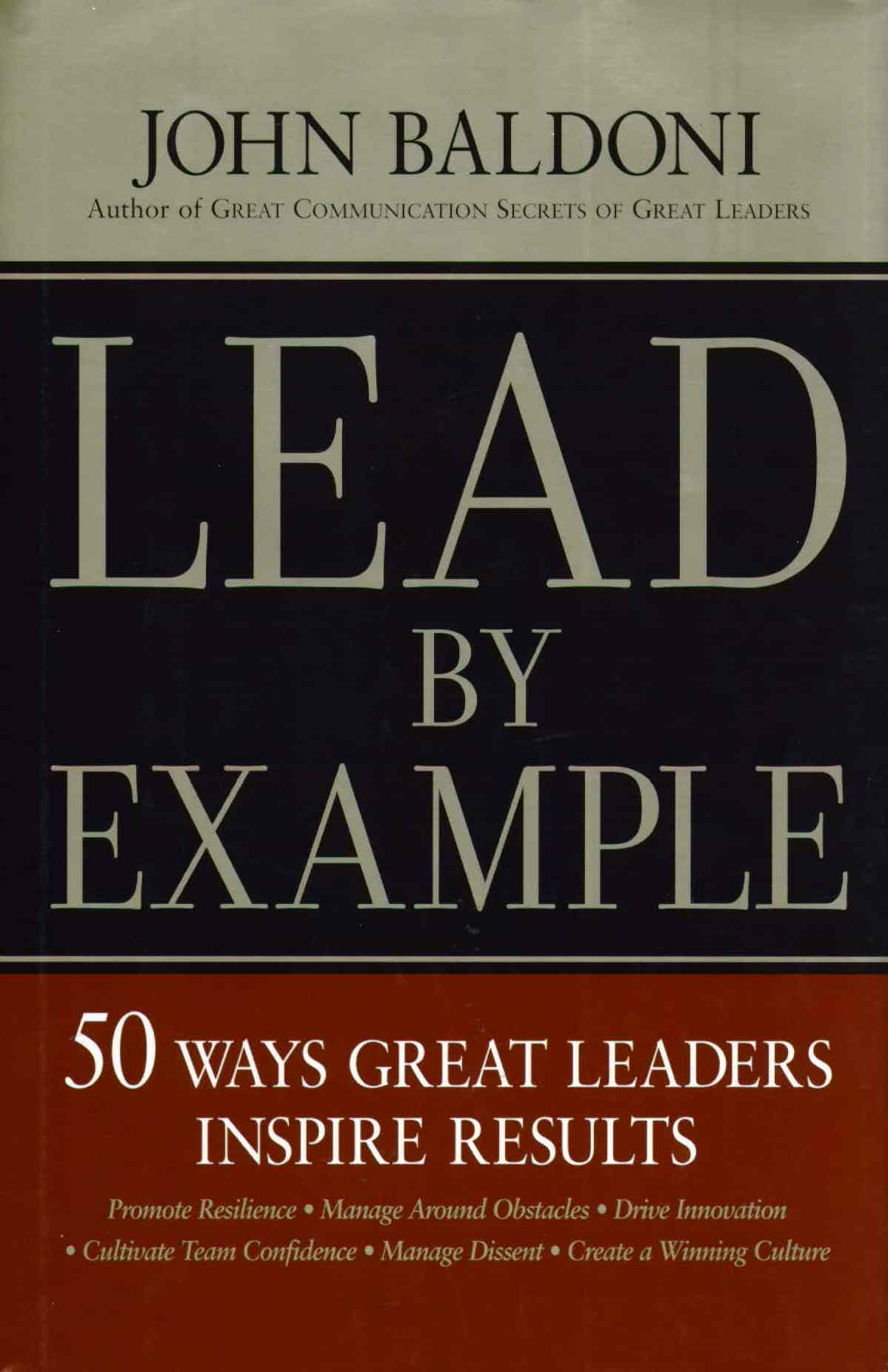 new book summary available for lead by example | business book summaries